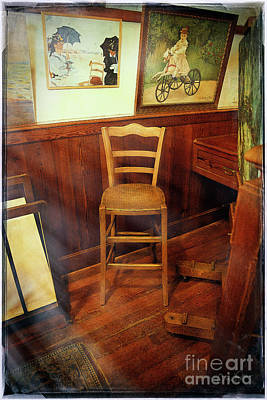 Photograph - Monet's Art Studio Chair by Craig J Satterlee