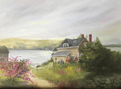 Painting - Monhegan Garden by Barbara Busenbark