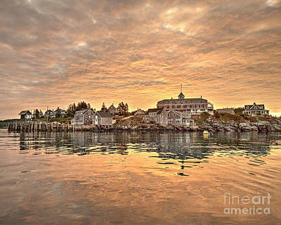 Photograph - Monhegan Sunrise - Harbor View by Tom Cameron