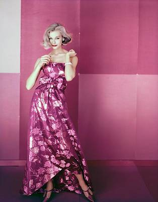 Photograph - Monique Chevalier In Adele Simpson by Henry Clarke