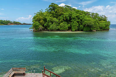 Photograph - Monkey Island In Portland Jamaica by Debbie Ann Powell