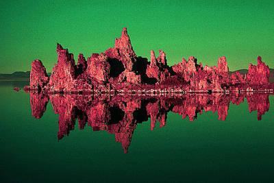 Painting - Mono Lake California 99 - Pop Art by Peter Potter