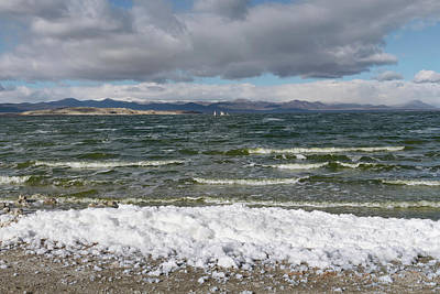 Photograph - Mono Lake Stormy Winter by Kathleen Bishop