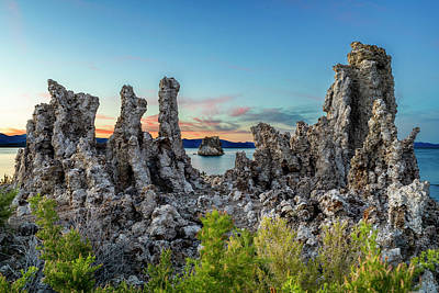 Photograph - Mono Lake Tufas Dusk by Kelley King