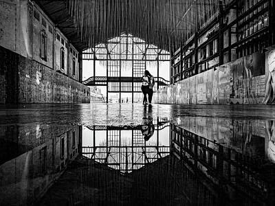 Photograph - Monochrome Asbury Park Casino by Randy Scherkenbach