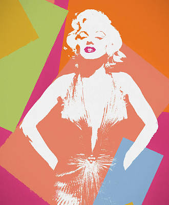 Painting - Monroe Color Pop Art by Dan Sproul
