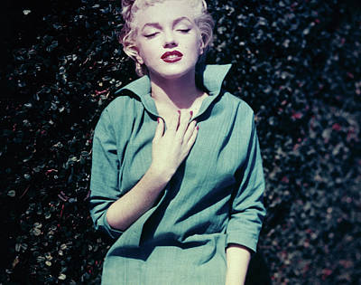 Photograph - Monroe In Green by Baron