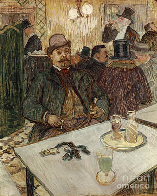 Photograph - Monsieur Boileau In A Cafe by Toulouse-lautrec