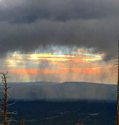 Photograph - Monsoon Curtain Arrives by Michael Oceanofwisdom Bidwell