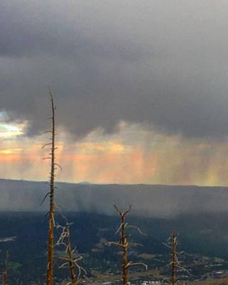 Photograph - Monsoon Curtain by Michael Oceanofwisdom Bidwell