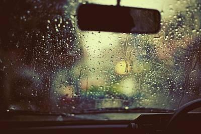 Photograph - Monsoon Rain On A Windshield by Design Pics / Arlene Bax