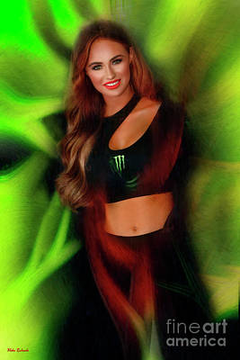 Photograph - Monster Energy Girl 2019 by Blake Richards