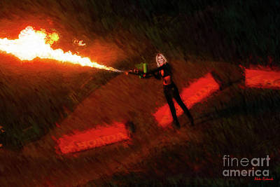 Photograph - Monster Energy Girl And Flamethrower by Blake Richards