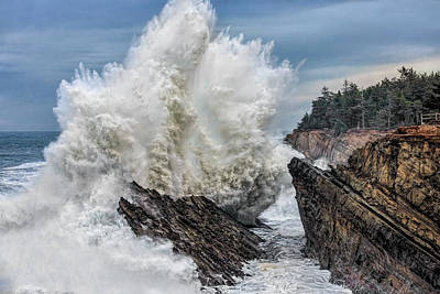 Photograph - Monster Wave by Wes and Dotty Weber