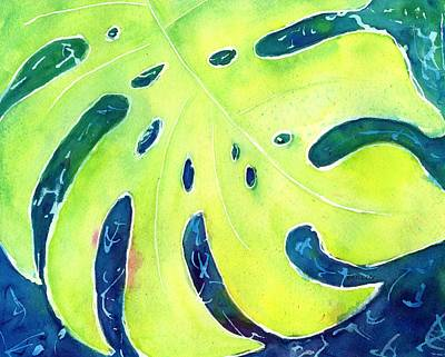 Painting - Monstera Tropical Leaves 4 by CarlinArt Watercolor