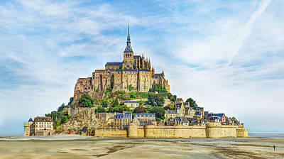 Photograph - Mont Saint Michel At Low Tide by Weston Westmoreland