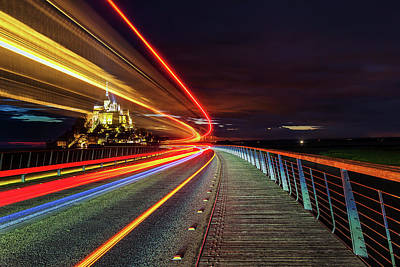 Hood Ornaments And Emblems - Mont Saint MIchel at Twilight by Andrew Soundarajan