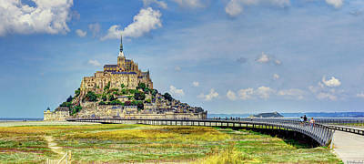 Photograph - Mont Saint Michel From Afar by Weston Westmoreland