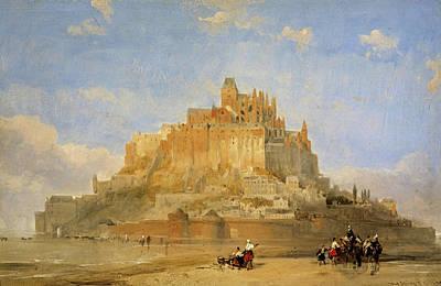 Underground Painting - Mont St Michel, 1848 by David Roberts