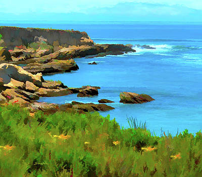 Digital Art - Montana De Oro State Park Watercolor by Floyd Snyder