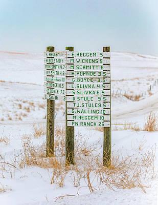 Photograph - Montana Signpost by Todd Klassy