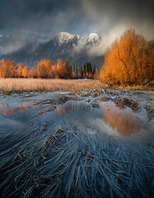 Photograph - Montana Spring Storm / Bigfork, Montana by Nicholas Parker