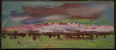 Painting - Montana Storm Impressionistic     1319 by Cheryl Nancy Ann Gordon