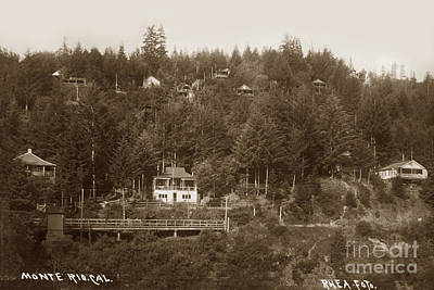 Photograph - Monte Rio, Ca Russian River, Sonoma County J B Rhea 1907  by California Views Archives Mr Pat Hathaway Archives