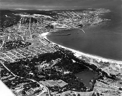 Photograph - Monterey Bay, Hotel Del Monte To Point Pinos 1935 by California Views Archives Mr Pat Hathaway Archives