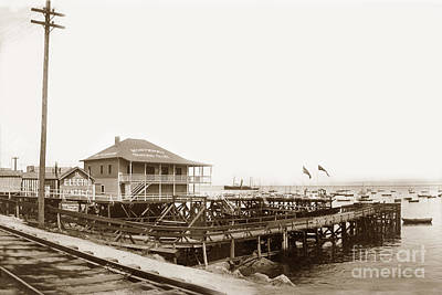 Photograph - Monterey Boating Club by California Views Archives Mr Pat Hathaway Archives