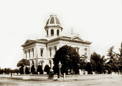Photograph - Monterey County Court House, Salinas Circa 1900 by California Views Mr Pat Hathaway Archives