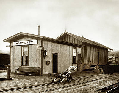 Photograph - Monterey Southern Pacific Railroad Depot And Western Union Teleg by California Views Archives Mr Pat Hathaway Archives