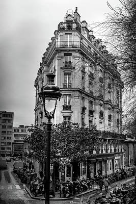 Photograph - Montmartre Paris Architecture In Black And White by Georgia Fowler