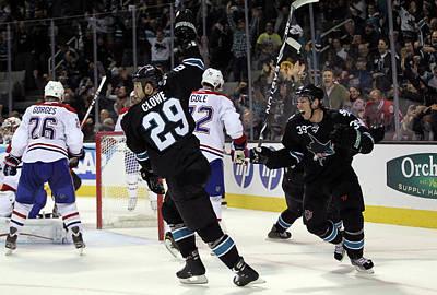 Scoring Photograph - Montreal Canadiens V San Jose Sharks by Ezra Shaw