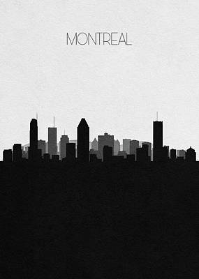 Skyline Drawing - Montreal Cityscape Art by Inspirowl Design
