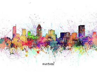 Abstract Skyline Royalty-Free and Rights-Managed Images - Montreal Skyline Artistic by Bekim M