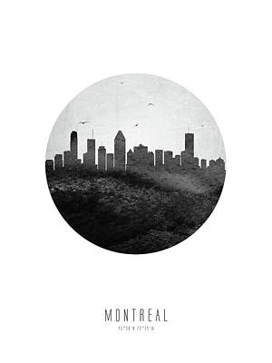 Digital Art - Montreal Skyline CAQCMO04 by Aged Pixel