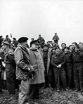 Photograph - Monty & Churchill With The Troops by George Rodger