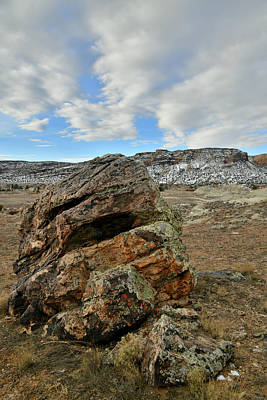 Photograph - Monument Clouds Over Ruby Mountain Boulder by Ray Mathis