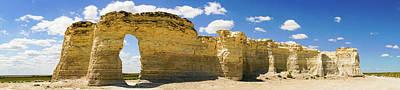 Photograph - Monument Rocks Kansas Panorama 1 by Lawrence S Richardson Jr