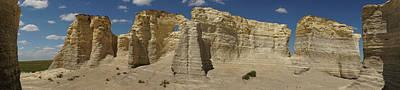 Photograph - Monument Rocks Kansas Panorama 3 by Lawrence S Richardson Jr