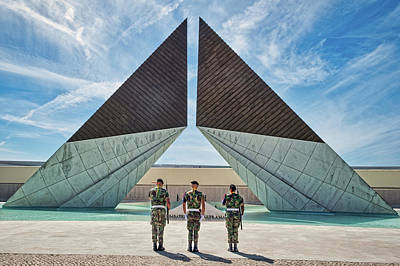 Photograph - Monument To The Overseas Combatants - Portugal by Stuart Litoff