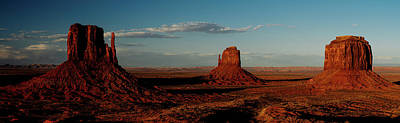Abstract Oil Paintings Color Pattern And Texture - Monument Valley at dusk by Kamran Ali