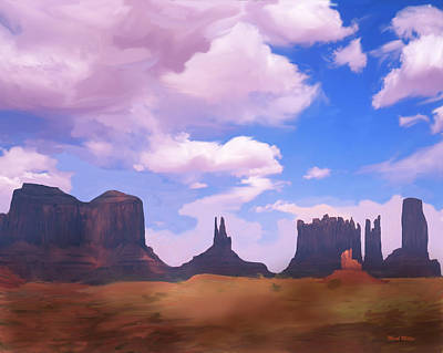 Digital Art - Monument Valley Impressions by Mark Miller