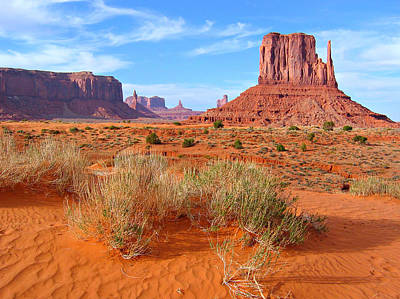 Tribal Photograph - Monument Valley Landscape by Sandra Leidholdt