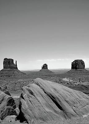 Photograph - Monument Valley Monochrome Landscape by Gregory Ballos