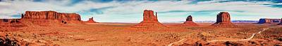 Photograph - Monument Valley Panorama by Andy Crawford