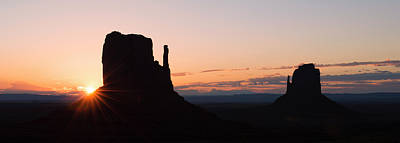 Photograph - Monument Valley Silhouettes by Loree Johnson