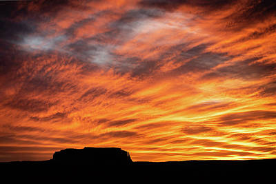 Photograph - Monument Valley Sunset 2 by William Christiansen