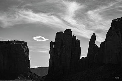 Photograph - Monument Valley Xvii Bw by David Gordon